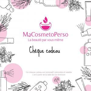 chèque cadeau MaCosmetoPerso